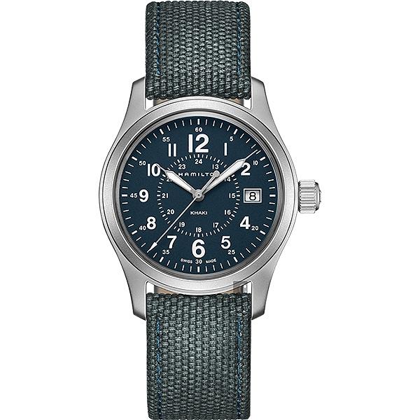Hamilton 漢米爾頓 Khaki Field卡其野戰手錶-藍/38mm H68201943