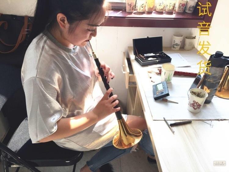 嗩吶 樂器全套初學者成人專業演奏烏木D調降B調民間喇叭樂器 玩物志