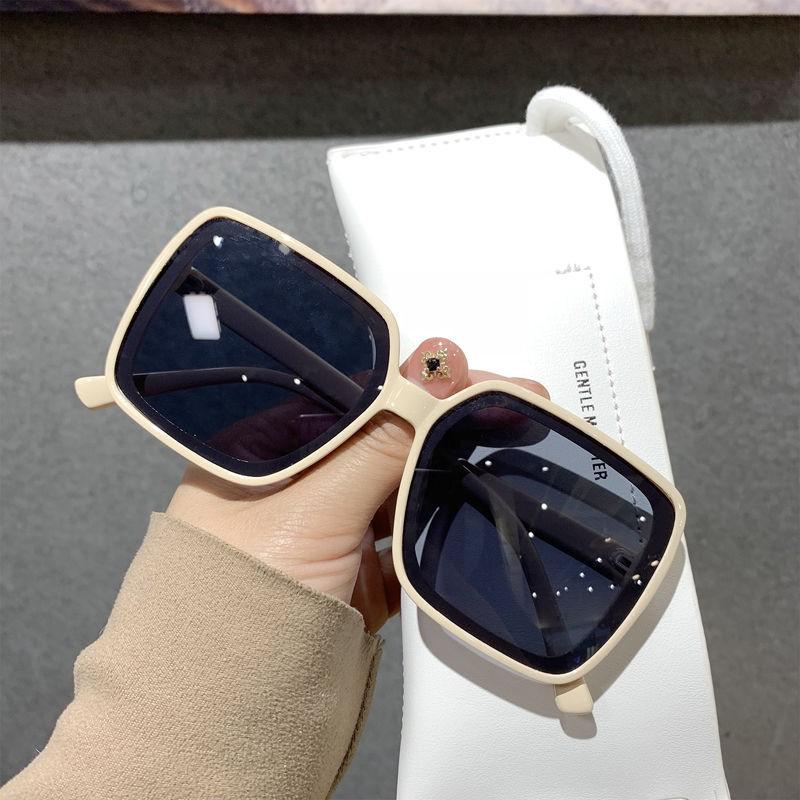 新款韓版個性網紅款超大框方框眼鏡女潮街拍墨鏡大臉顯臉小太陽鏡【現貨秒發】