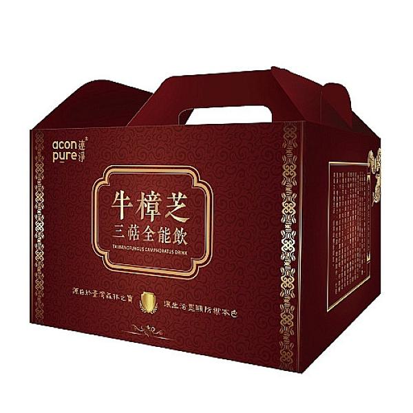 連淨牛樟芝三萜全能飲(全素)18入禮盒