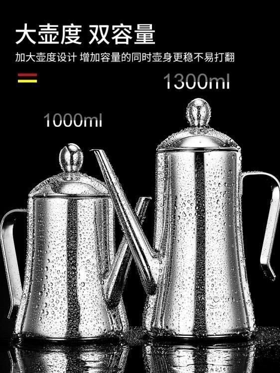 油壺 304不銹鋼油壺家用大容量裝油罐廚房用品歐式醋壺油壸醬油瓶【全館免運】