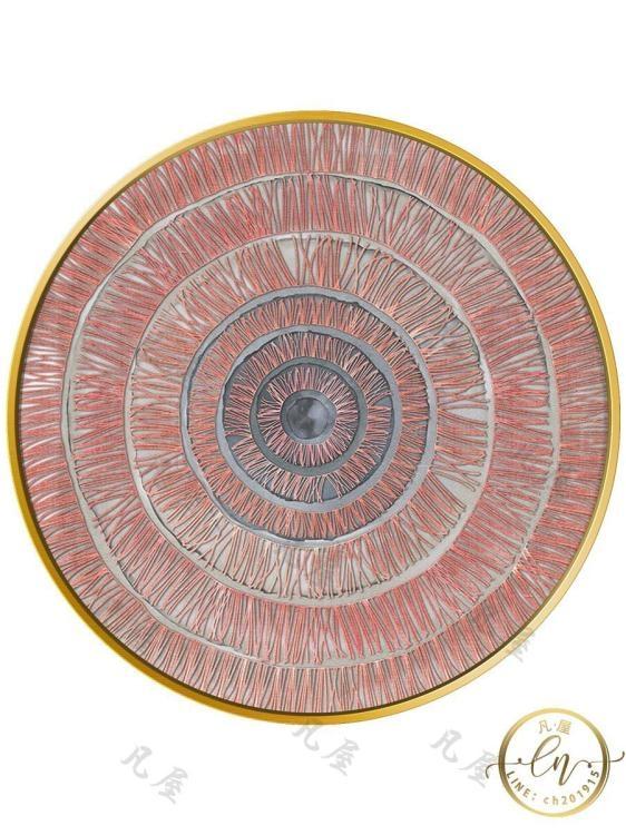 壁畫 現代抽象圓形裝飾畫 進門玄關畫過道走廊 餐廳墻面客廳沙發背景畫【顧家家】