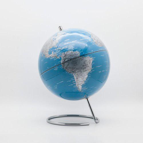 【SkyGlobe】10吋群青藍U型底座地球儀(英文版)《WUZ屋子》