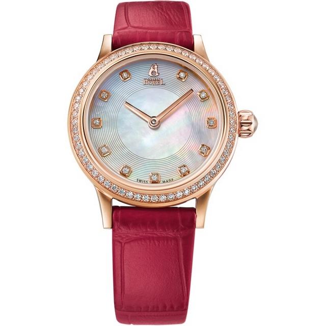 【ERNEST BOREL瑞士依波路錶】星鑽系列 珍珠母貝錶面+皮帶 29mm (N0113L0F-QR4L)