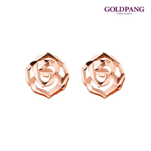 18k 玫瑰耳環-玫瑰金