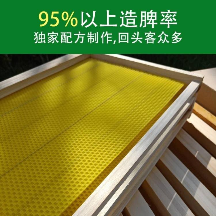 帶巢礎框成品巢框蜂巢中蜂意蜂杉木巢基蜜蜂巢框養蜂工具蜂箱包郵