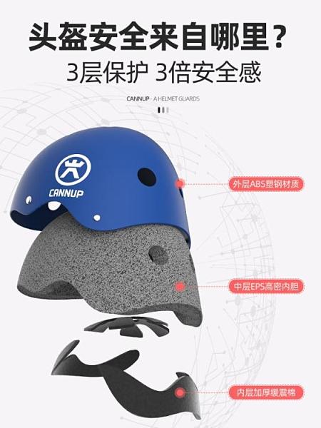 頭盔 輪滑具膝防摔全套裝備騎行自行車平衡滑板頭盔男孩兒童頭盔 風馳