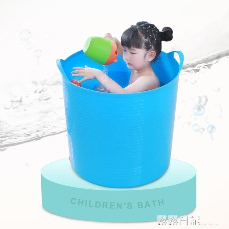 NMS 大號加厚兒童洗澡桶寶寶浴桶小孩子泡澡桶塑料沐浴桶嬰兒浴盆澡盆