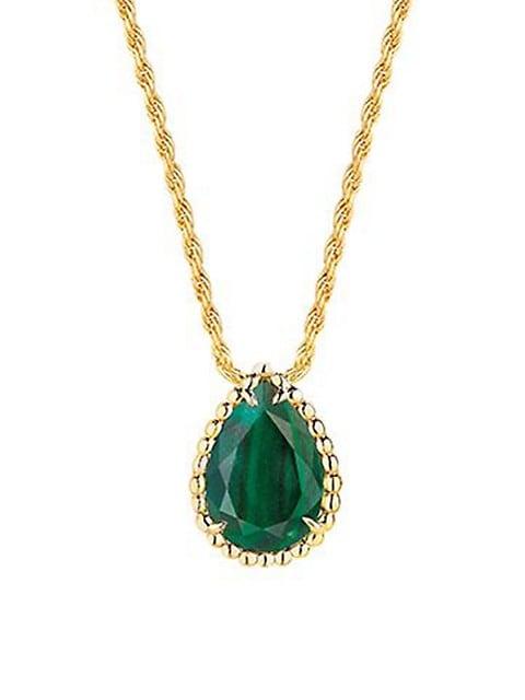 Serpent Bohéme 18K Yellow Gold & Malachite Pendant Necklace