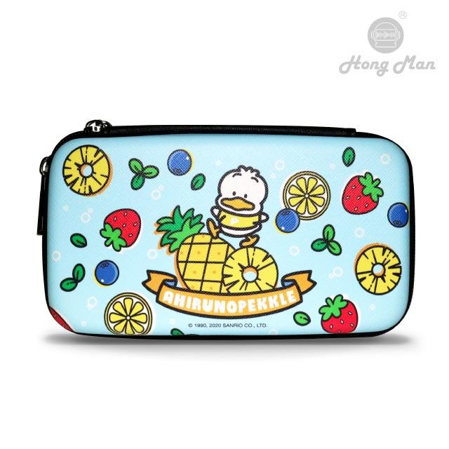 【Hong Man】三麗鷗系列 硬殼收納包 貝克鴨與鳳梨