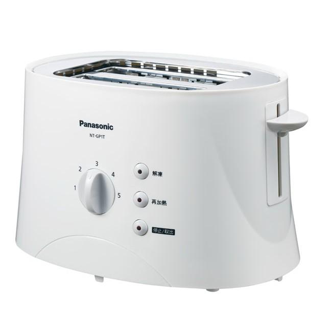 Panasonic 國際牌 五段調節 解凍 再加熱烘烤麵包機 NT-GP1T