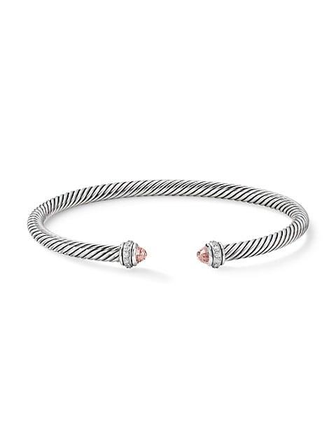 Cable Classic Bracelet with Gemstone & Diamonds