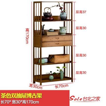博古架 多寶閣博古架展示櫃實木新中式茶葉茶具架擺件古董架子茶室置物架T