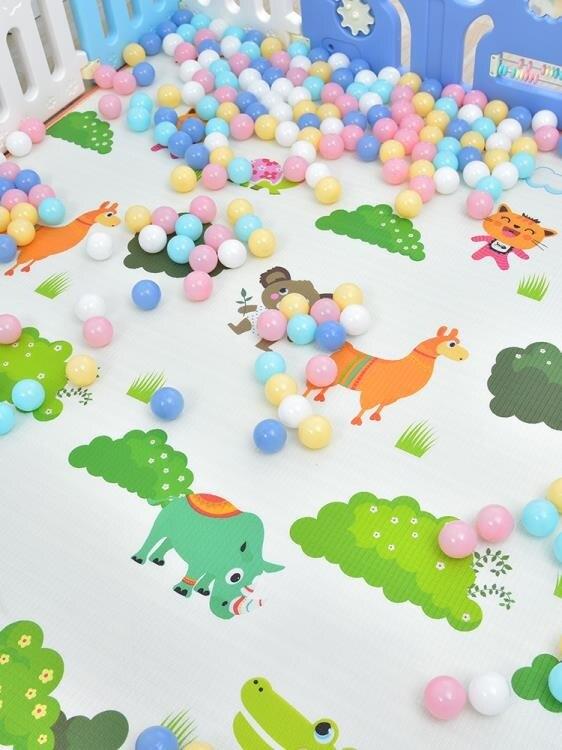 兒童門欄寶寶學步圍欄兒童室內游戲兒童防護欄家用安全塑料柵欄圍擋XW 【快速出貨】
