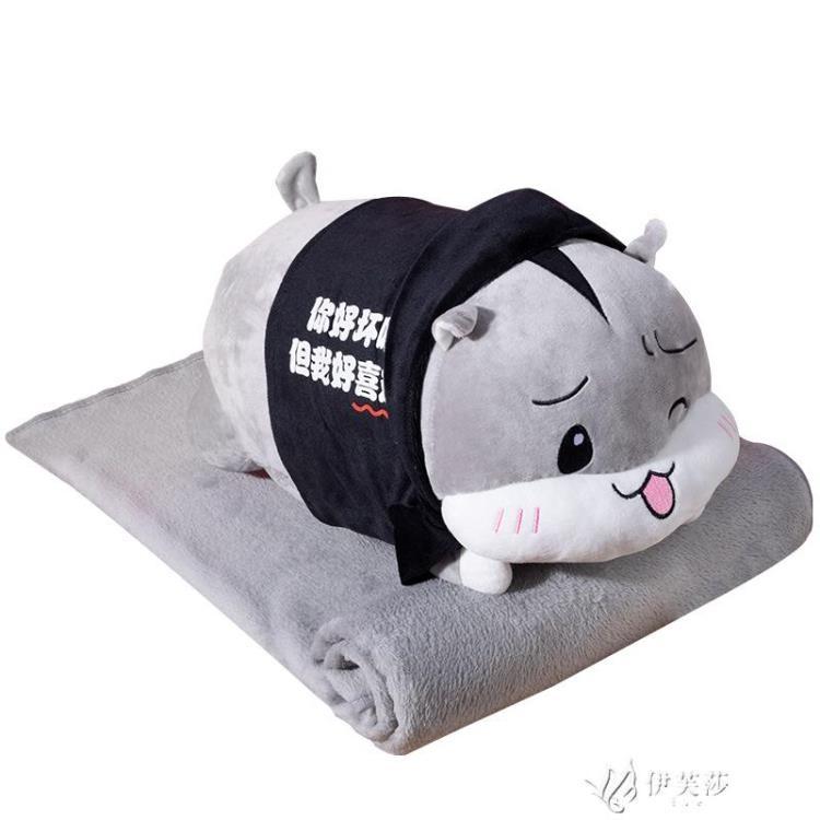 創意可愛抱枕被子兩用臥室床頭床上大靠墊午睡枕頭靠枕暖手 玩物志