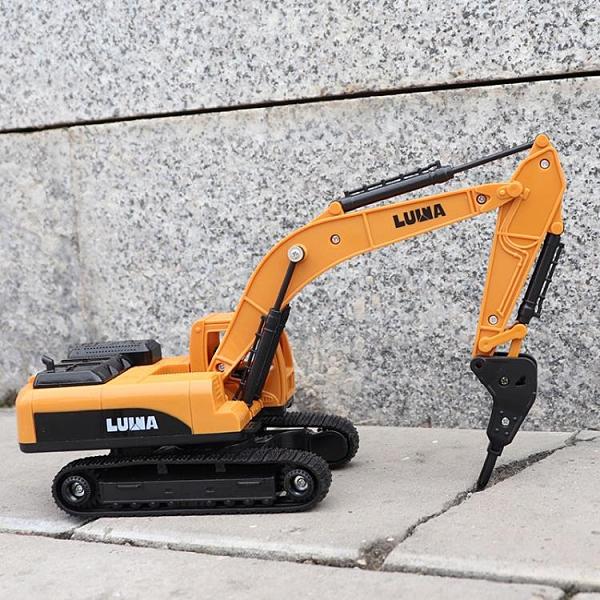 挖掘機玩具 打鉆機玩具車推土車兒童挖掘機運輸土工程車 破碎機【快速出貨八折搶購】