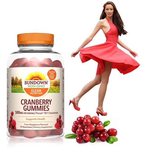 50倍濃縮蔓越莓軟糖(75粒/瓶)【Sundown日落恩賜】-有效期至2022/1月底