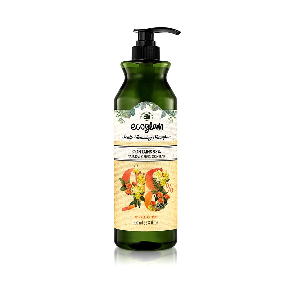 ECOGLAM [頭皮護理洗髮精-清香柑橘] ✅專利植萃起泡劑洗髮精-PH5.00-6.00