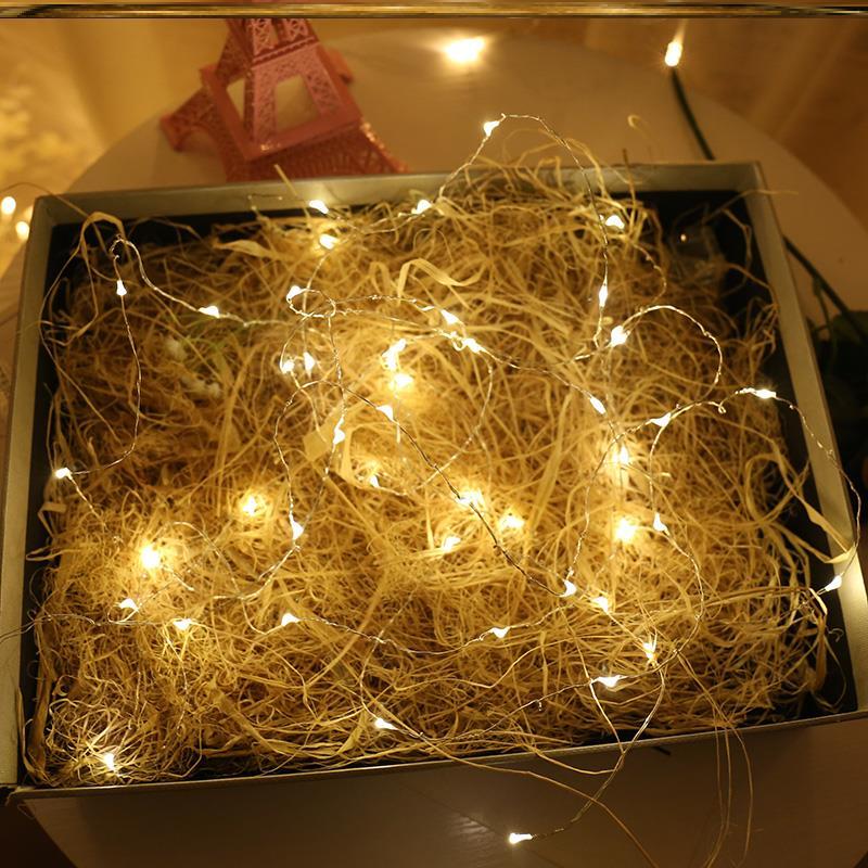 銅線LED燈星星燈串燈小彩燈宿舍DIY迷你裝飾燈少女心創意燈帶1入