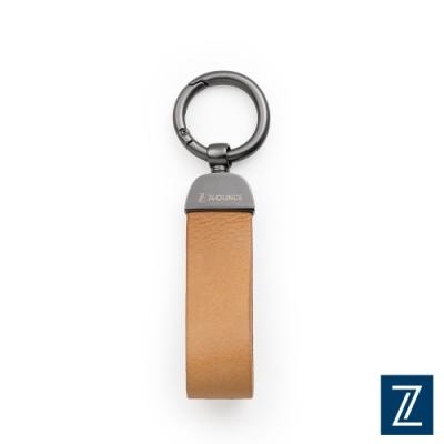 74盎 極簡寬版真皮鑰匙圈[TN-035]棕