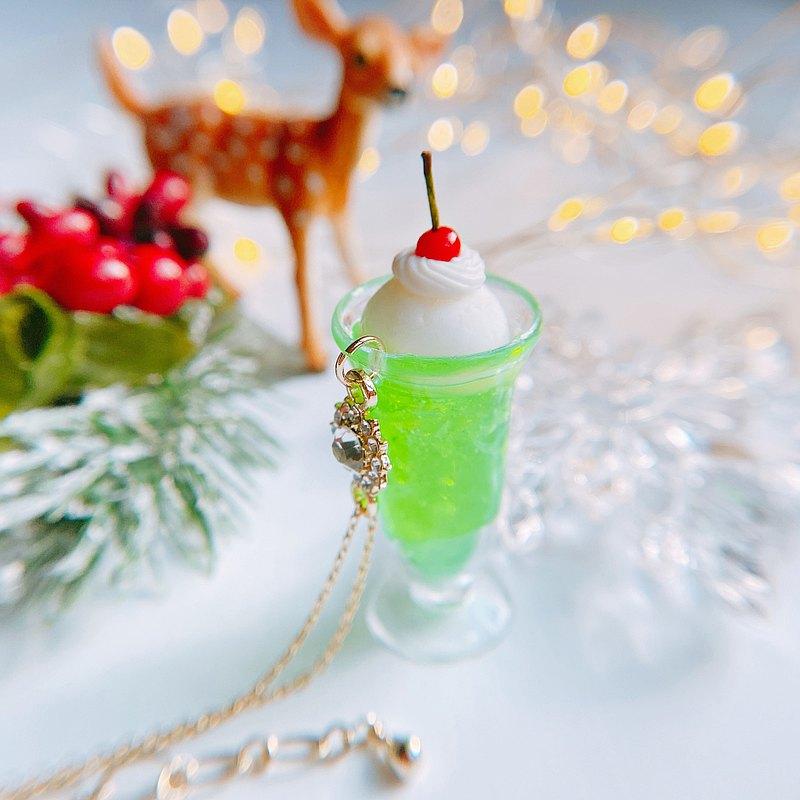 閃光奶油蘇打項鍊假糖果