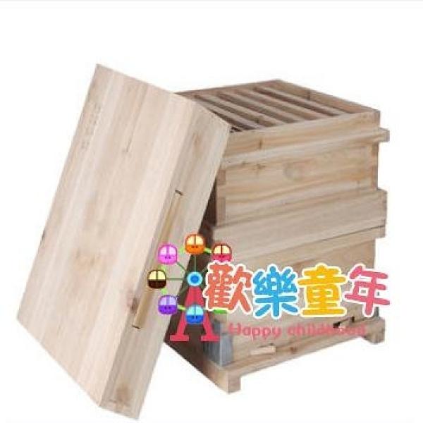 蜜蜂箱 全套雙層杉木蜜蜂箱養蜂桶隔王板沙蓋中蜂土蜂專用工具新款T