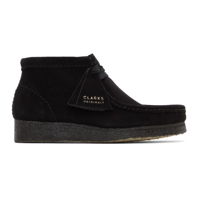 Clarks Originals 黑色 Wallabee 沙漠靴