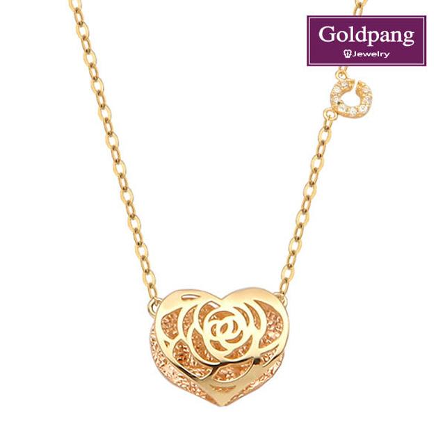 [gold pang] 14kGold玫瑰心形項鍊
