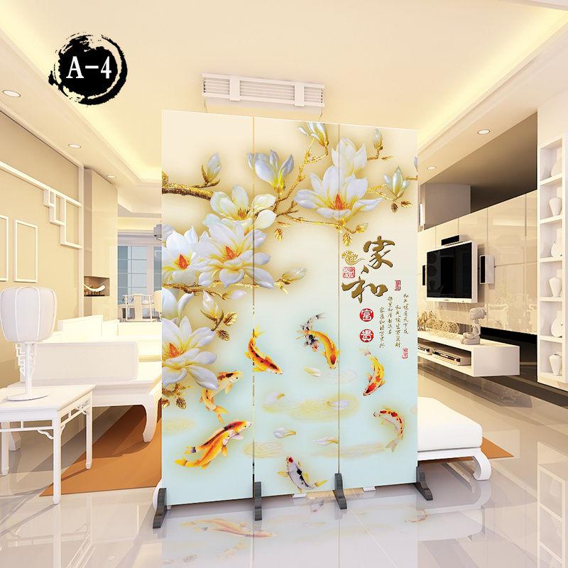 屏風隔斷墻中式現代簡約臥室折疊移動玄關客廳布藝時尚小戶型簡易pd