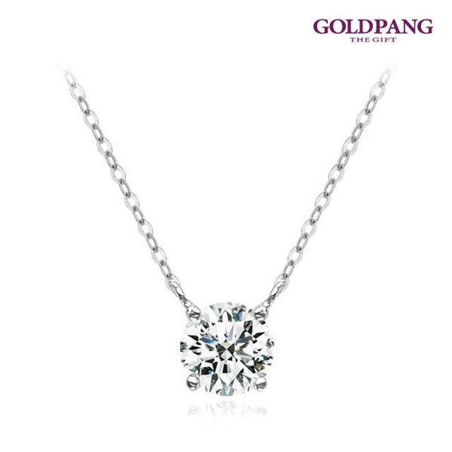 14k鑽石項鍊0.5克拉-白色