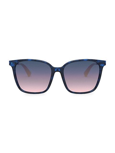 57MM Square Gradient Sunglasses