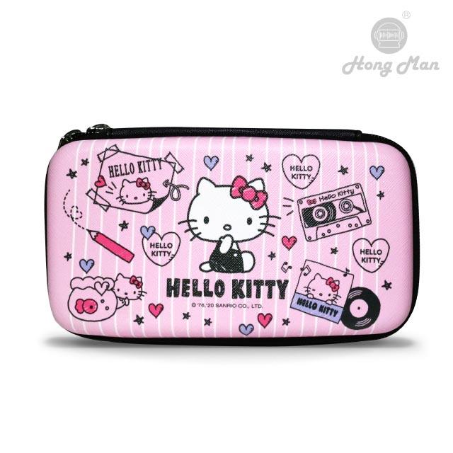 【Hong Man】三麗鷗系列 硬殼收納包 Hello Kitty 素描畫