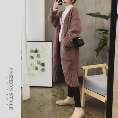 2F韓衣-韓系素色時尚百搭毛衣外套-3色(M-XL)