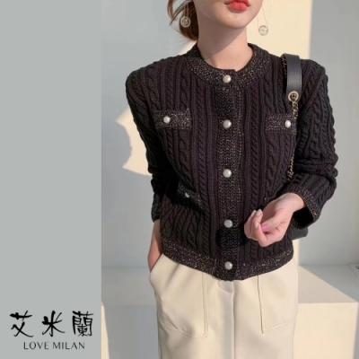 艾米蘭-韓版名媛氣質時尚毛衣外套-2色(F)