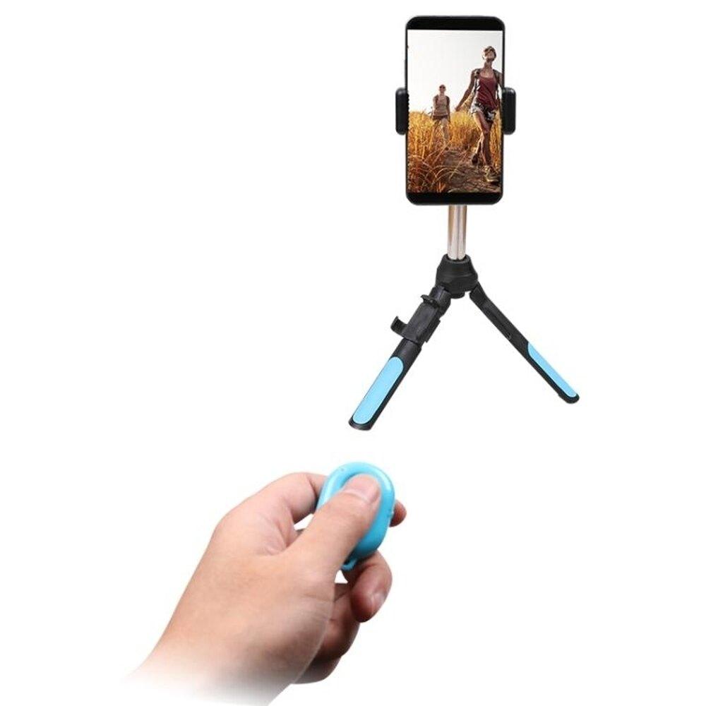 自拍棒多功能手機 運動相機三腳架自拍桿 For Gopro小蟻配件 遙控器-快速出貨