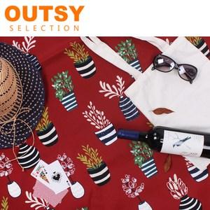 OUTSY 台灣製限量款輕量印花野餐墊緋色瑪蒂達