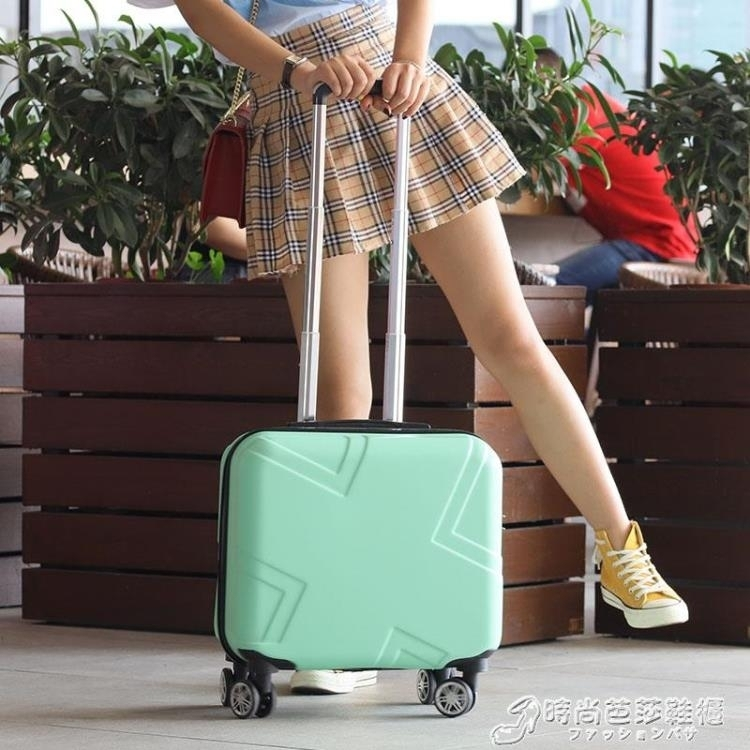 登機箱女18寸網紅行李箱小型輕便拉桿箱密碼旅行箱男韓版小清新潮  聖誕節狂歡購