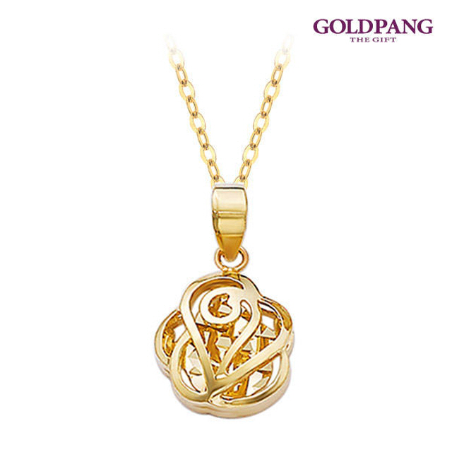 [gold pang] 14k 凡爾賽吊墜
