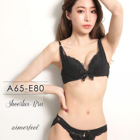 aimerfeel-單品內衣    奢華薄紗內衣   單品內衣-黑色2-577113-BL2