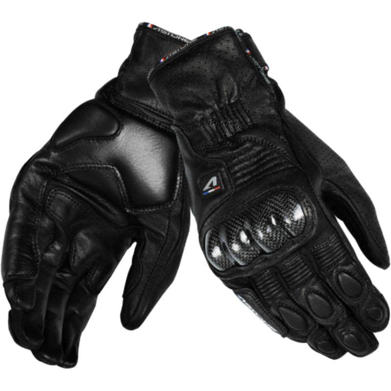ASTONE LC-02 真羊皮質 LC02 碳纖維防護 黑色 防摔短手套 觸碰 透氣 止滑 法國《淘帽屋 》
