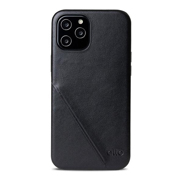 Alto iPhone 12 Pro Max 真皮手機殼背蓋 6.7吋 Metro 360 - 渡鴉黑【可加購客製雷雕】皮革保護套