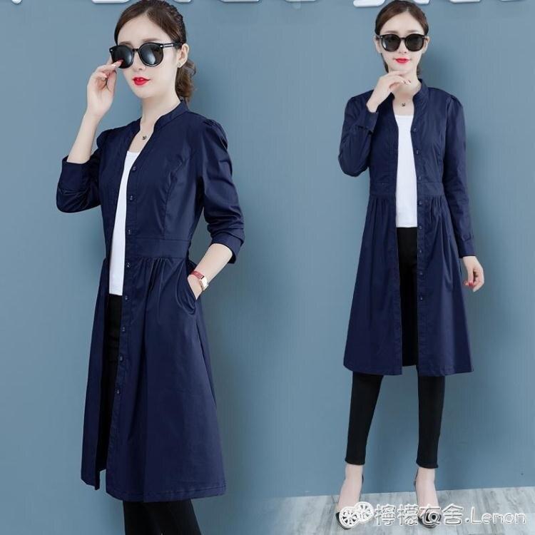 風衣 韓版寬鬆顯瘦小個子流行外套女早秋新款氣質薄款風衣中長款潮