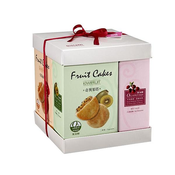 【烘焙客】DiHaNi 無糖 水果塔禮盒(奇異果、葡萄柚、黑嘉麗及蔓越莓) 640g/盒 #四口味 #高纖低GI