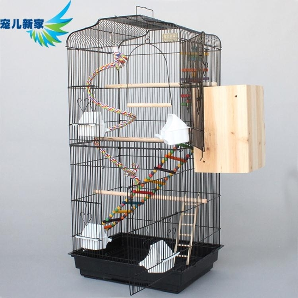 鳥籠 玄鳳虎皮鸚鵡籠子 豪華大型鳥籠 八哥籠大號金屬 牡丹鷯哥繁殖籠-快速出貨