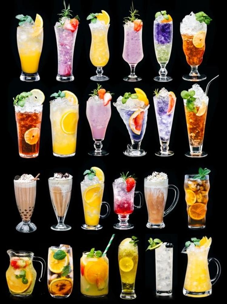 奶茶杯子 玻璃杯子果汁杯冷飲杯奶茶杯網紅家用創意大飲料杯沙冰奶昔飲品杯客製