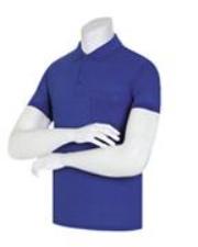 (顏色:鈷藍 | 尺碼:3XL)單色 30支 領子T恤 (22 colors) 顏色領子T恤 領子短袖T恤 女士領子T恤