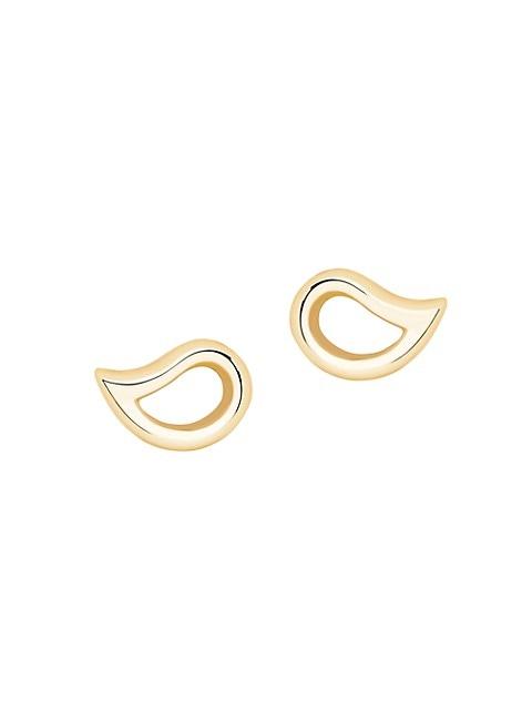 Pétale 18K Yellow Gold Small Stud Earrings