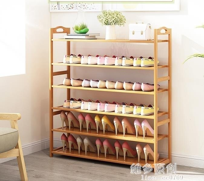 鞋櫃鞋櫃多層簡易防塵家用經濟型組裝家里人門口小鞋櫃實木多功能  DF