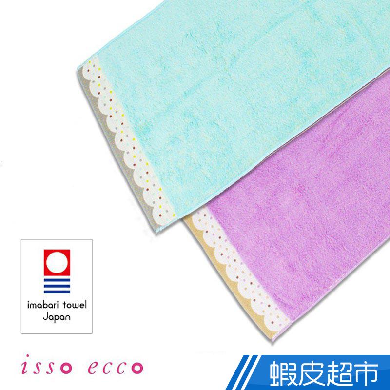 科羅沙 日本ISSO ECCO 今治無撚雙面波點毛巾 34x80cm 現貨 蝦皮直送
