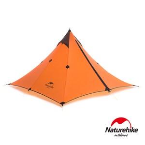 Naturehike 尖塔極輕量防水20D矽膠單人天幕帳篷 橘色橘色
